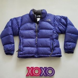 THE NORTH FACE 700 goose down blue puffer jacket